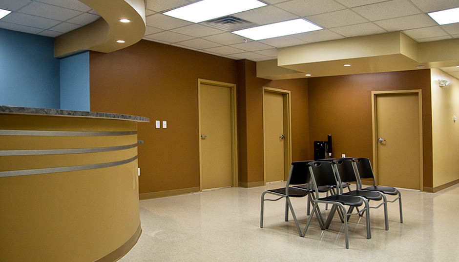 Our front desk and waiting room.