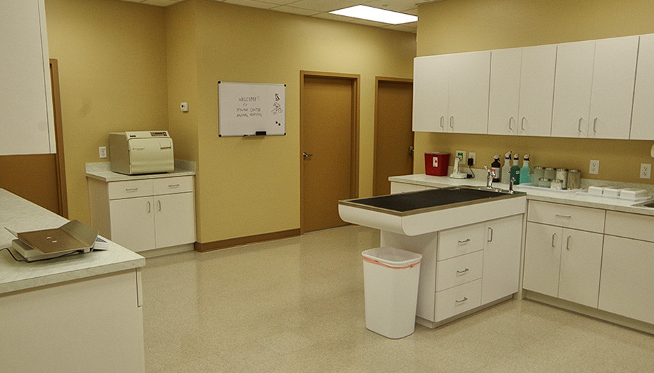 The main treatment room.